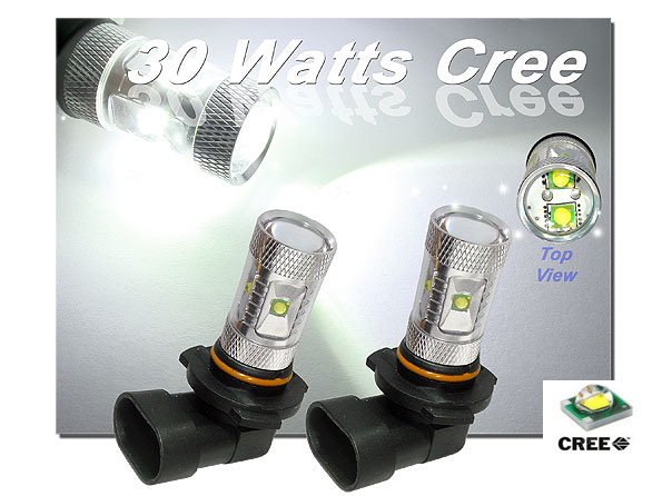 Extremely Bright HID Equivalent 30W Max Capacity CREE R4 XP-E 9005 HB3 H10 9145 Bulbs High Beam Daytime Running Light Bulbs