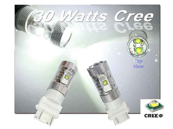 Extremely Bright HID Equivalent 3157 3156 3057 3056 3357 3356 30W Max Capacity CREE R4 LED Bulbs for Turn Signal or Back Up Ligh